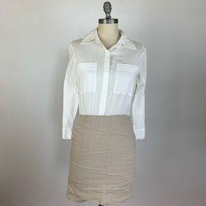 Alice + Olivia Tan Shirt Dress